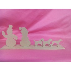 4mm MDF Snowman family Design 1